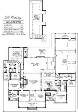 thenatchezjpg natchez webplanjpg - Madden Home Designs