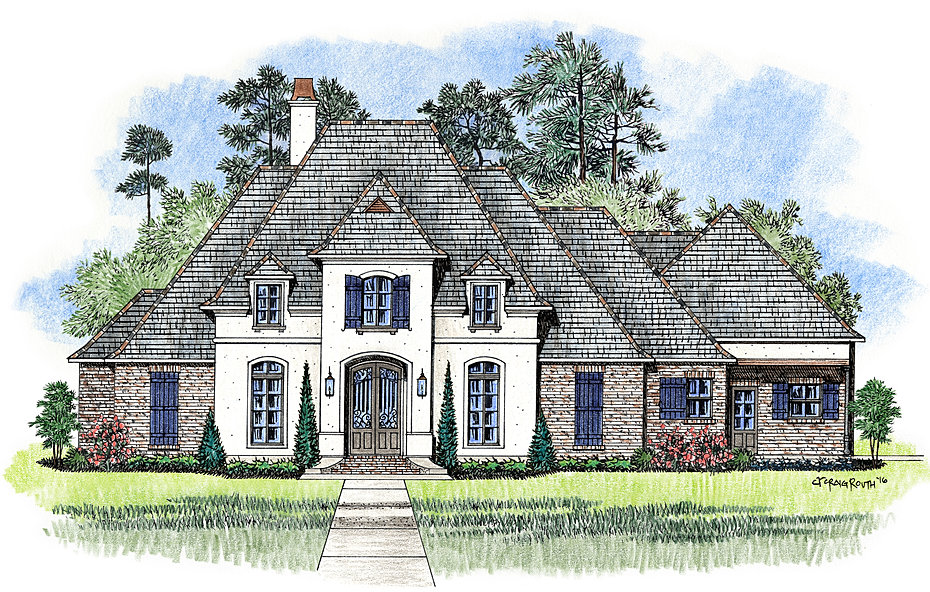 The Philadelphia Madden Home Design  French Country house plans Acadian