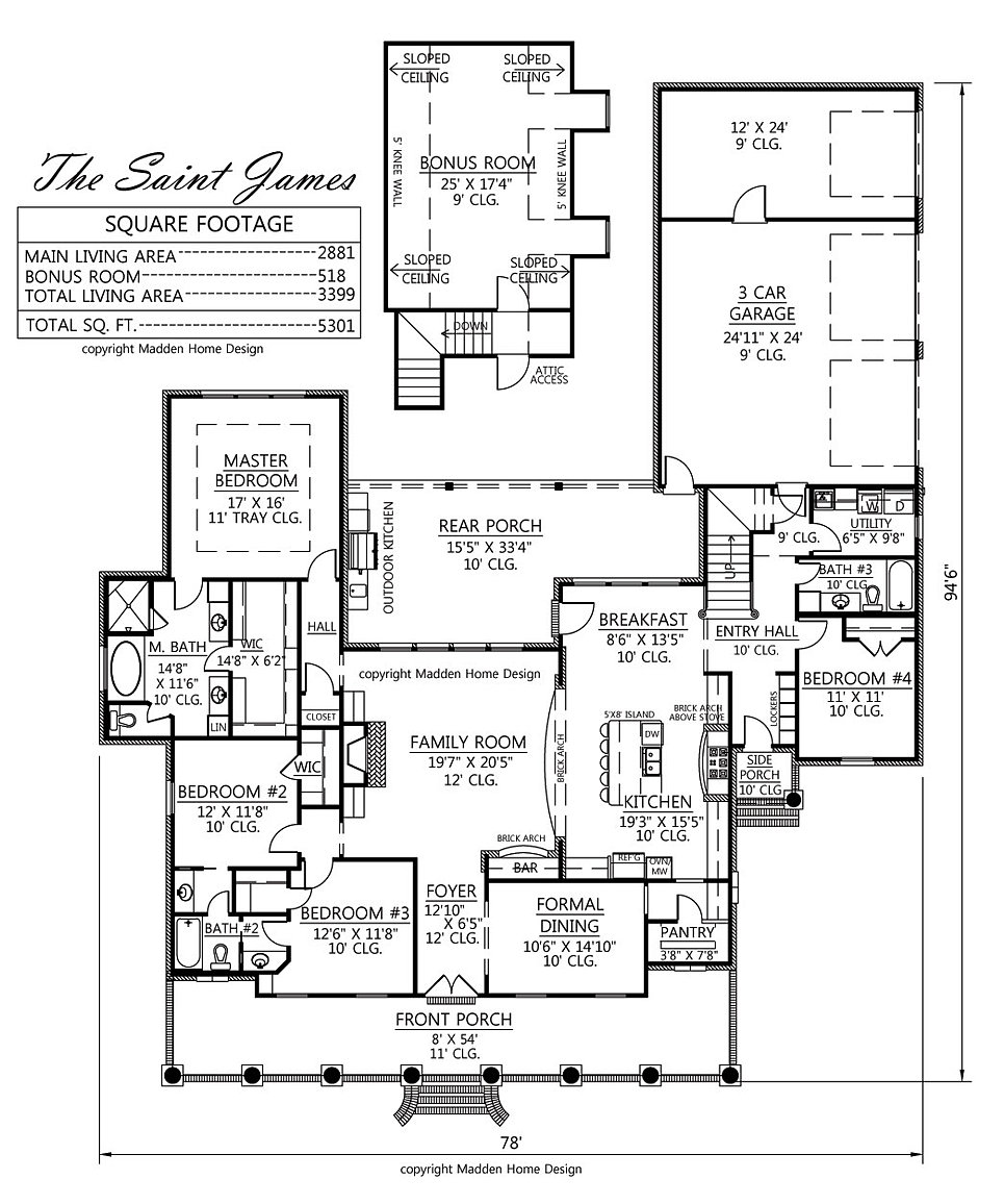 Amazing Total: 5301 Square Feet. Design Ideas
