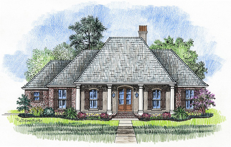 The laurel madden home design acadian house plans for Madden house plans