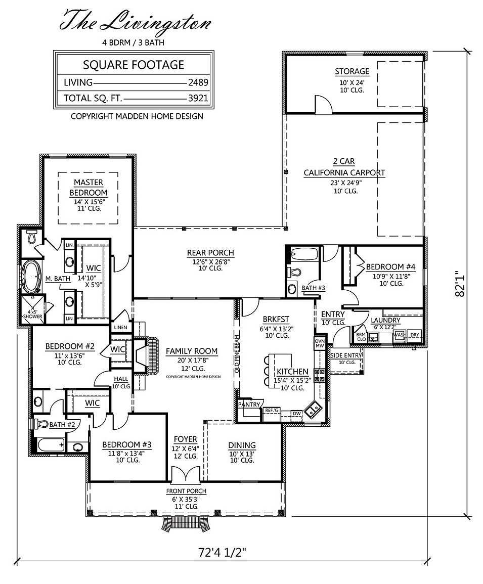 Madden home design the livingston for Madden house plans
