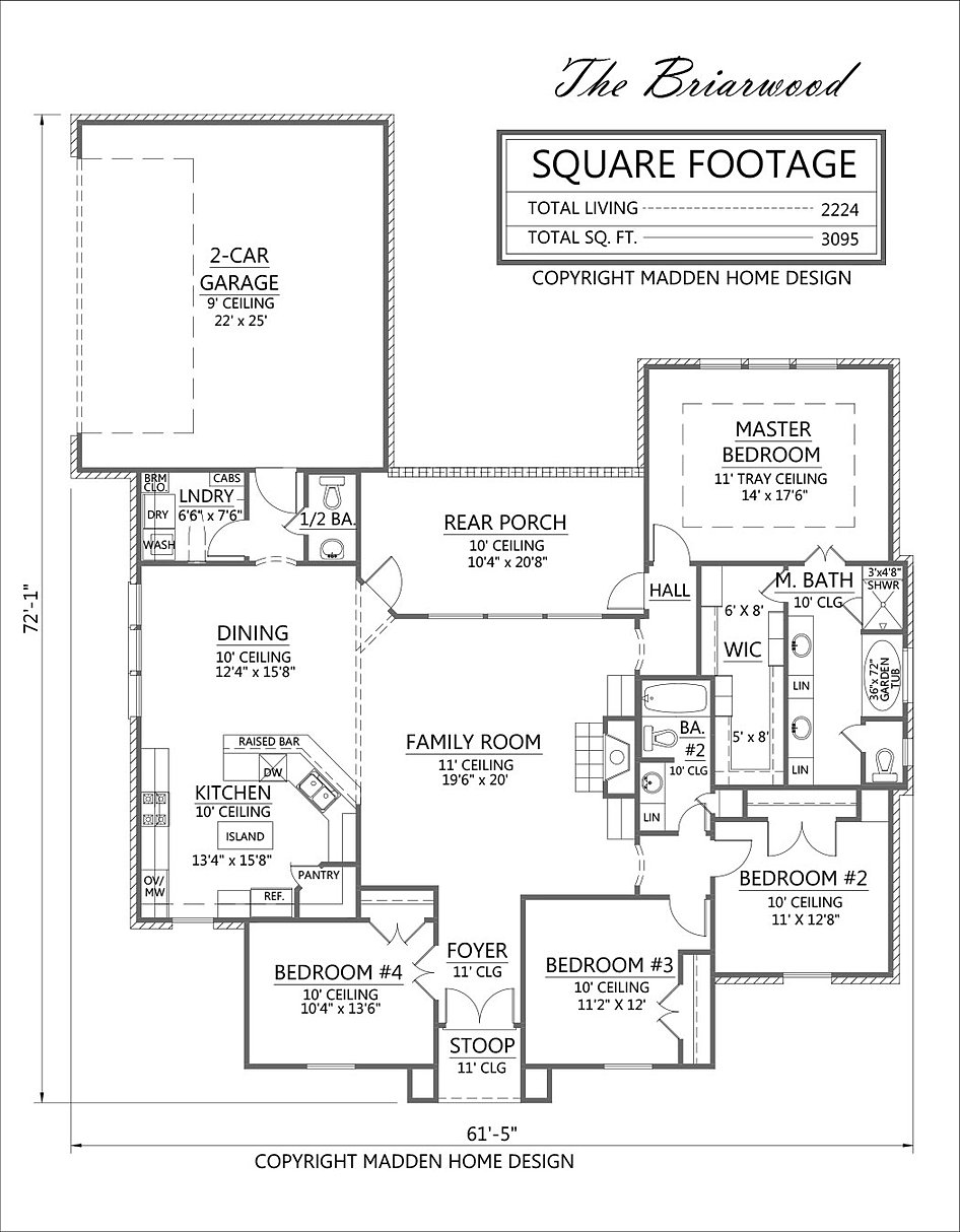 total 3095 square feet. Interior Design Ideas. Home Design Ideas