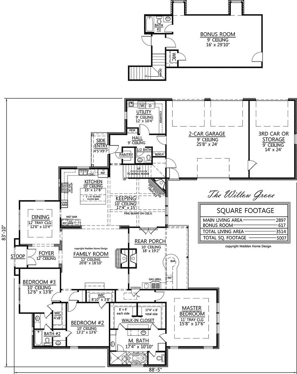 Madden Home Design The Willow Grove