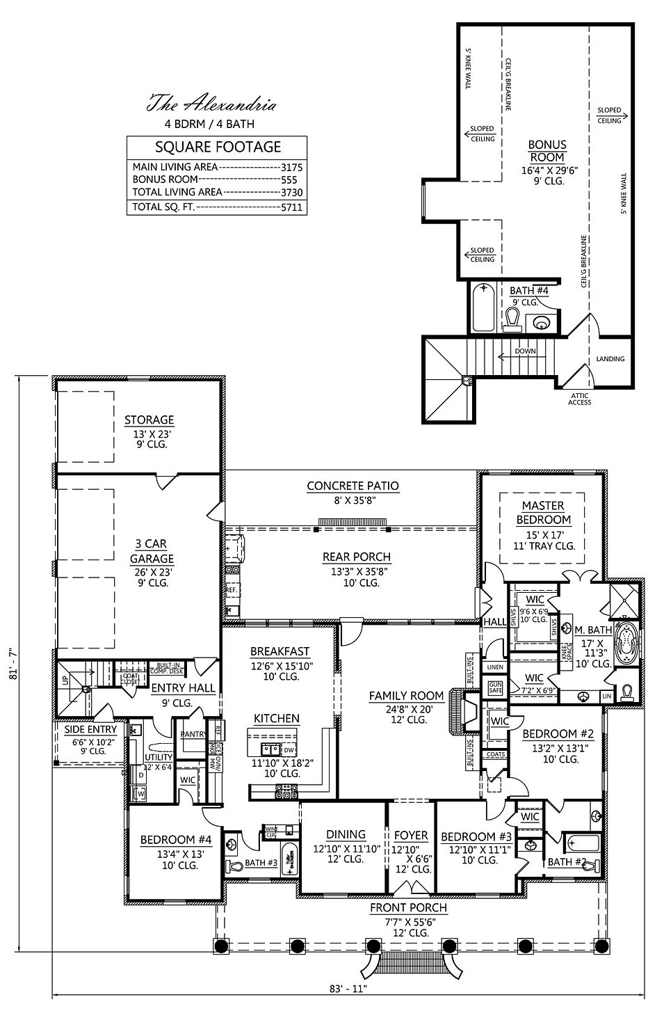 Madden home design the alexandria for Madden house plans