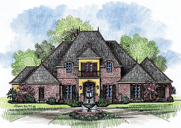 the monte clare - French Country House Plans