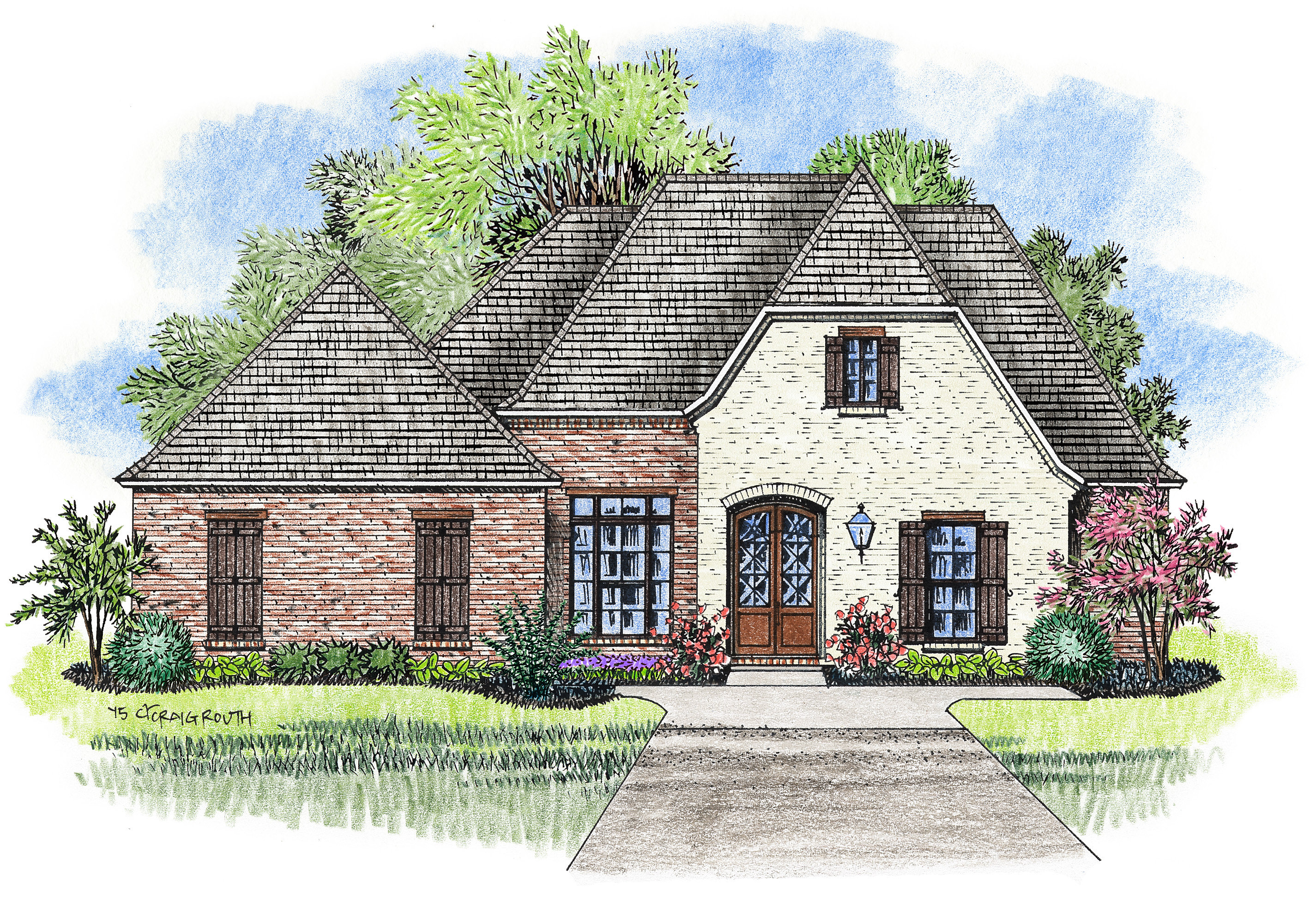 2 Story French Acadian House Plans House Design Ideas
