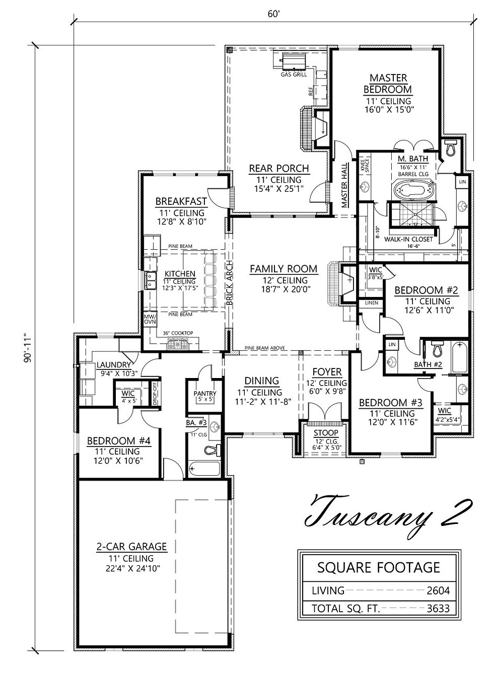 madden home design - the tuscany ii