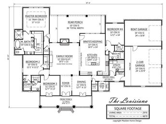 The Louisiana Madden Home Design Acadian House Plans French