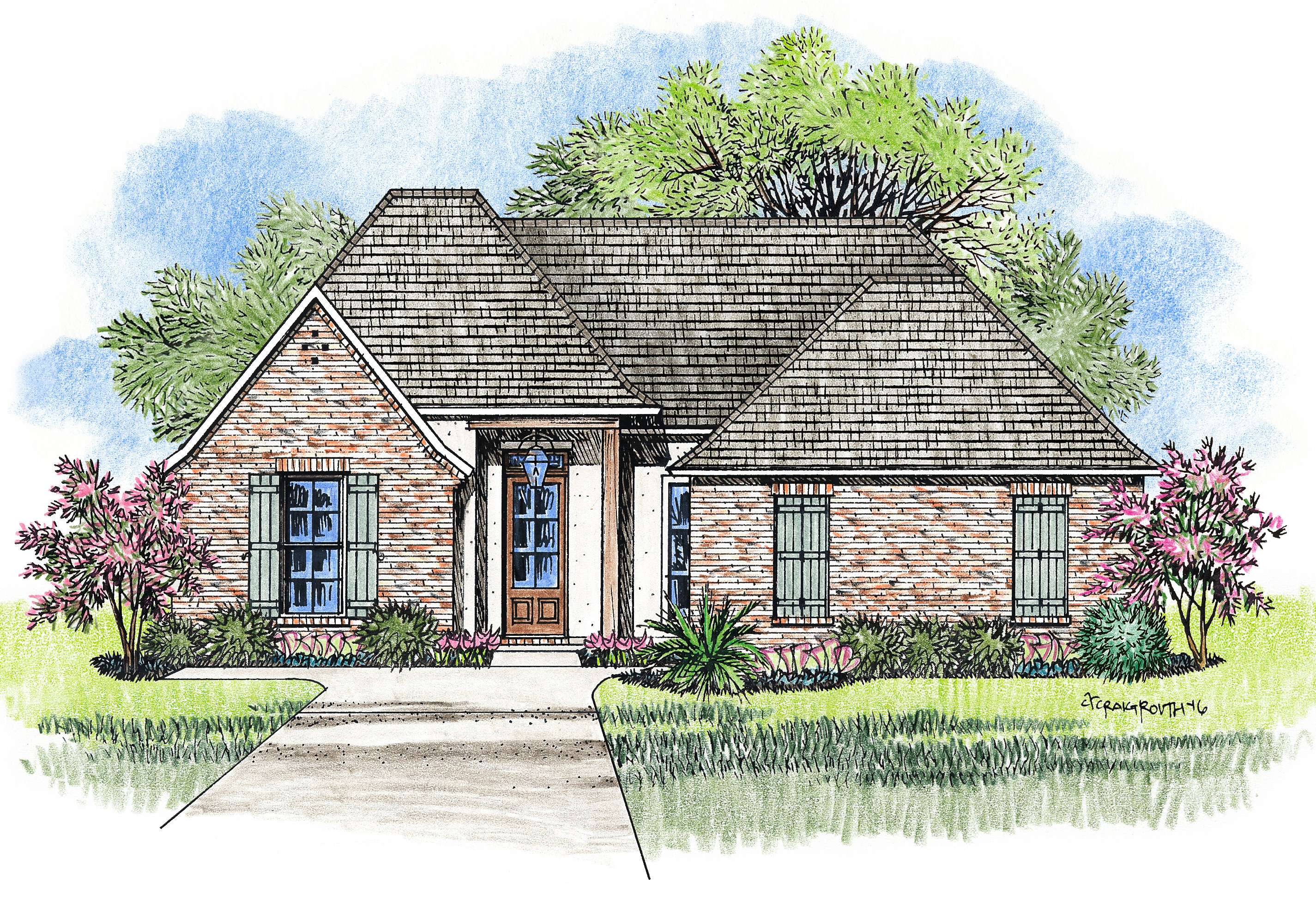 Madden home design acadian house plans french country for Savannah style house plans