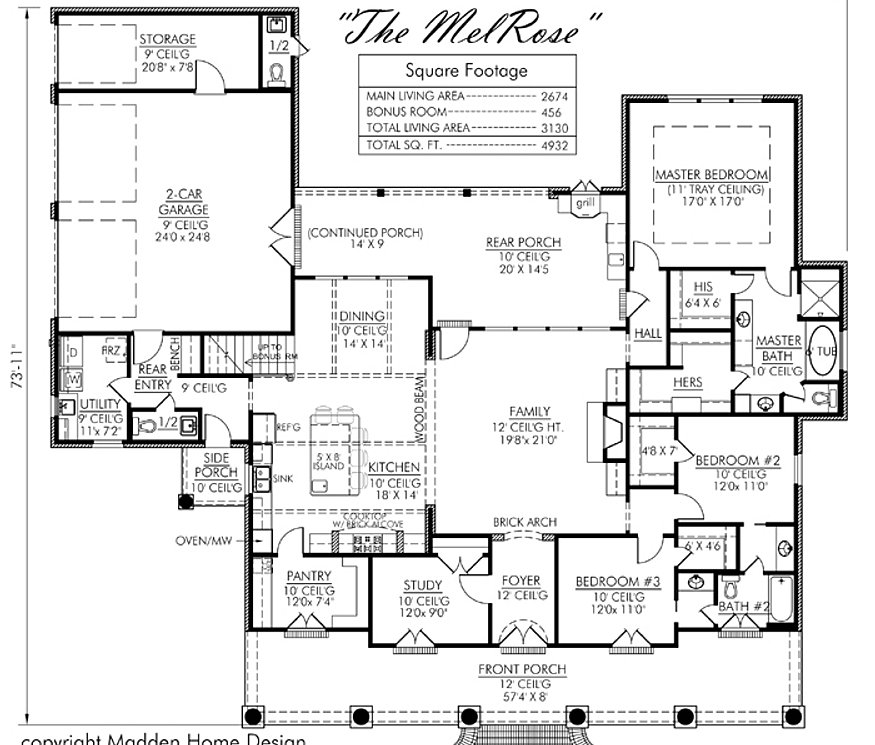 Madden home design melrose for Madden house plans