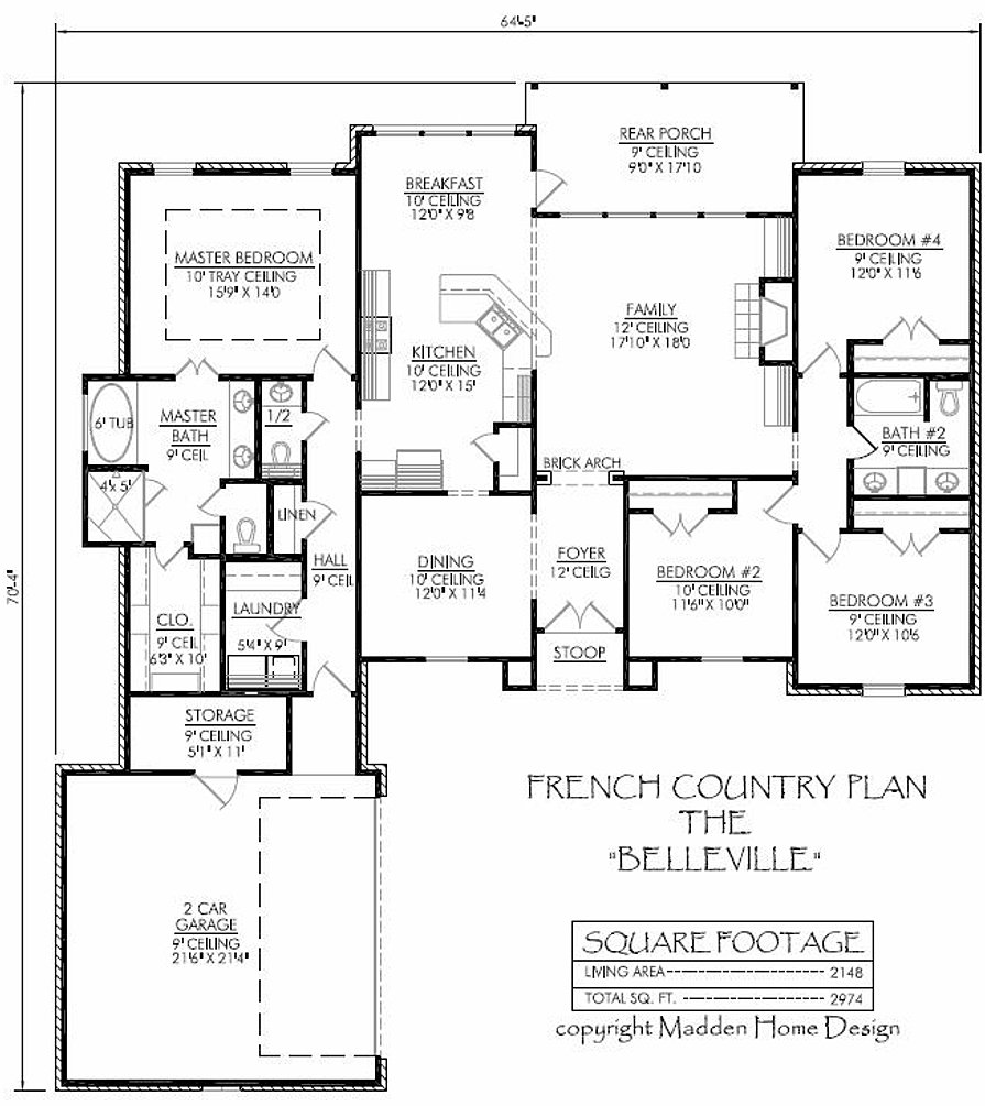 Madden home design the belleville for Madden house plans