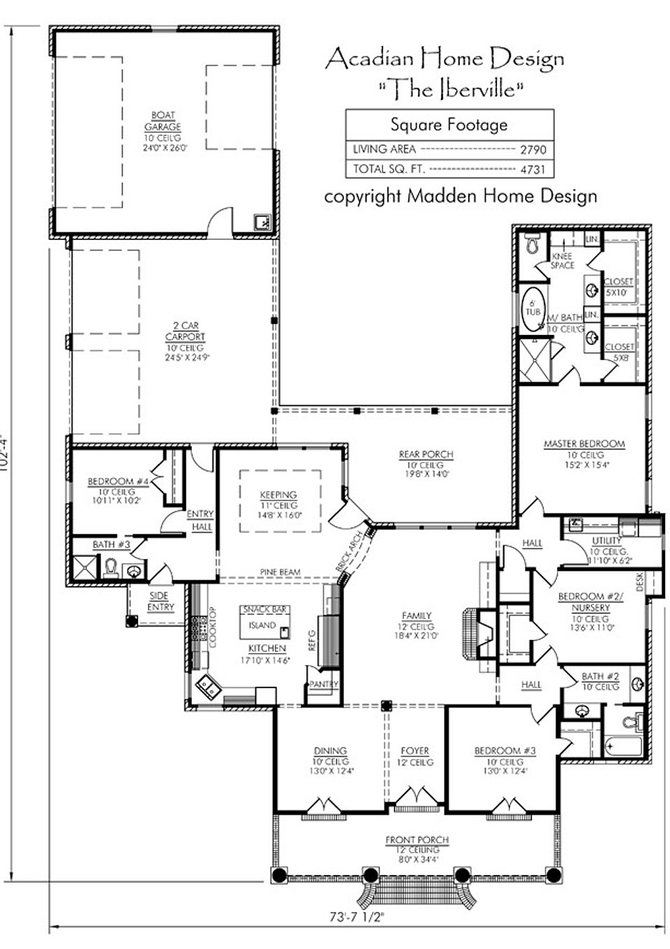 Madden home design the iberville for Madden house plans