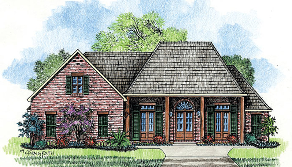 Madden home design the creole for Creole cottage house plans