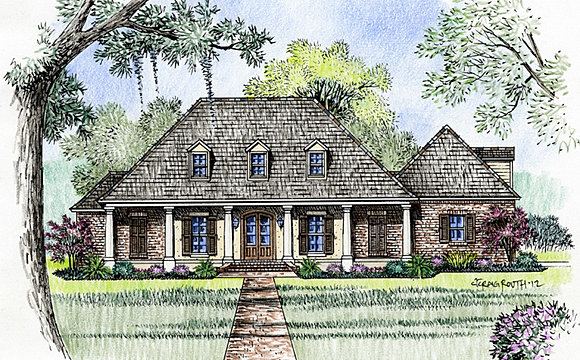 Madden home design french country house plans acadian for Williamsburg style house plans