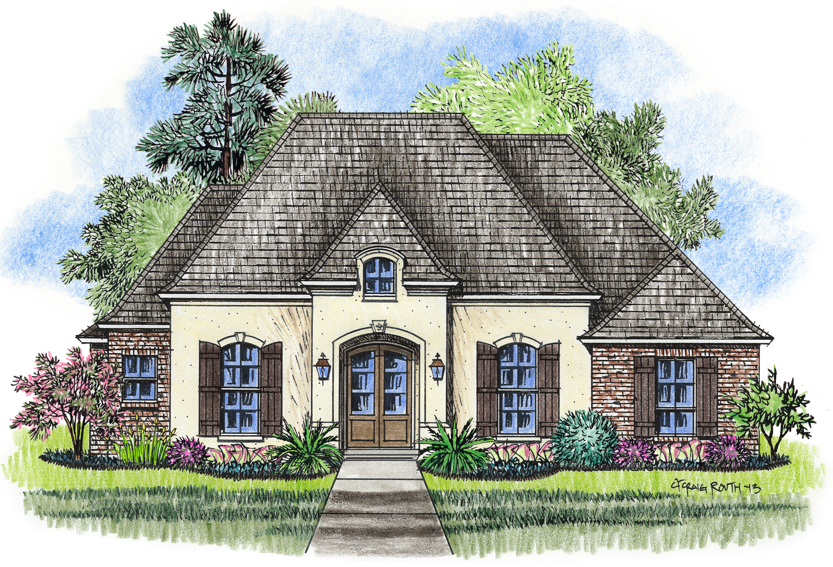 The jumonville madden home design acadian house plans for Madden house plans