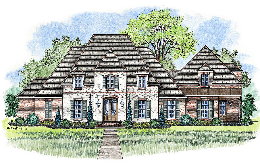 total 6046 square feet - Custom Home Designs Baton Rouge