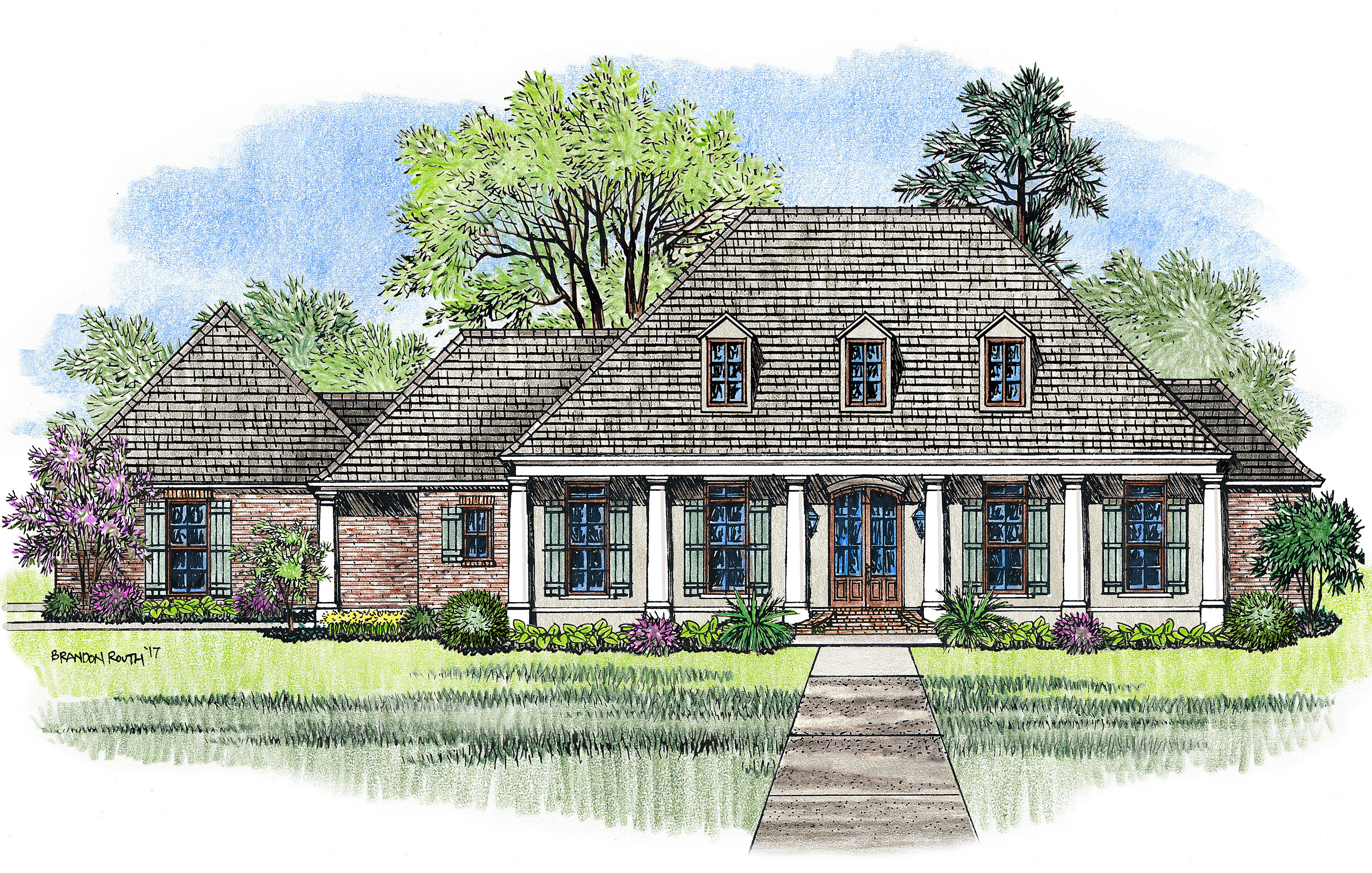 Acadian house plans 4 bed acadian house plan with bonus for French home plans