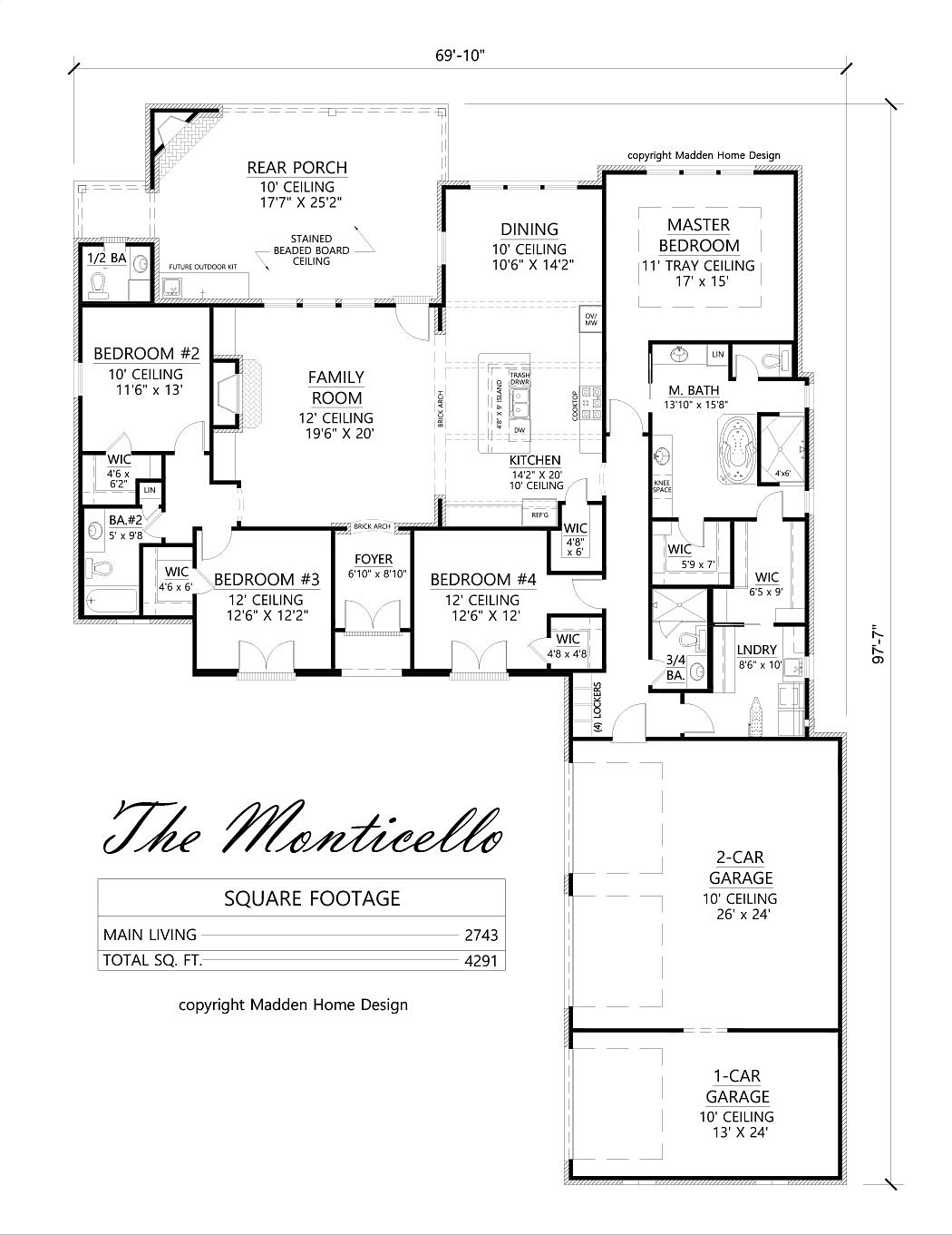 madden home design acadian house plans french country house plans the monticello - Madden Home Designs