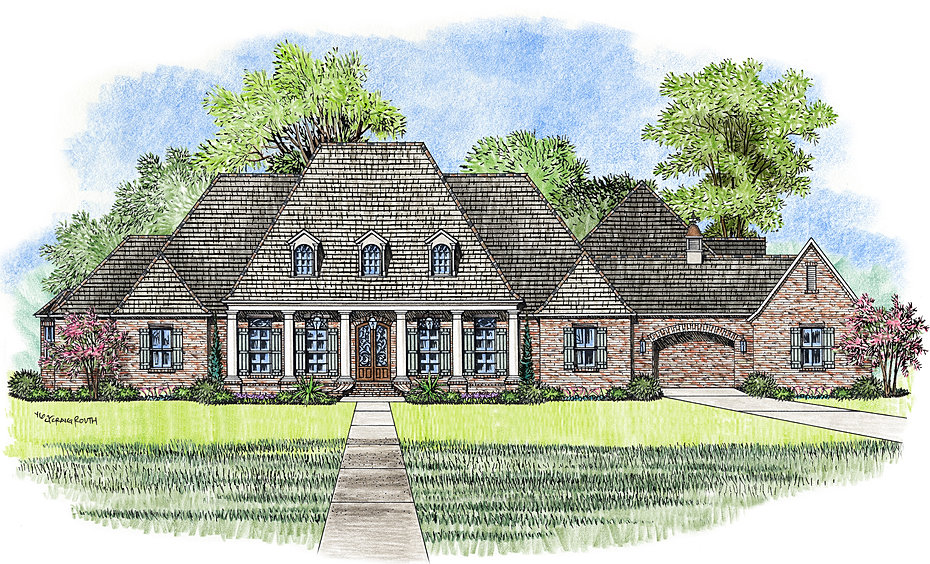The Pontchartrain Madden Home Design  French Country house plans Acadian