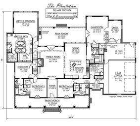 plantation renderingjpg plantation planjpg - Madden Home Designs