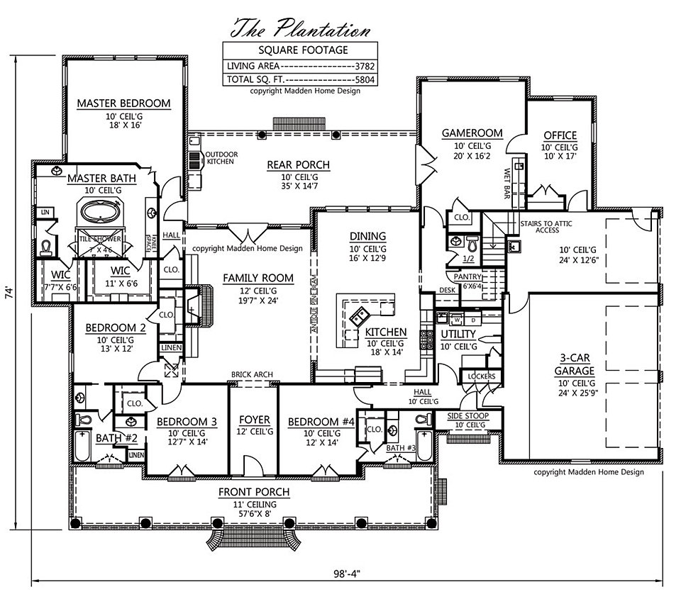 Madden home design evergreen for Madden house plans