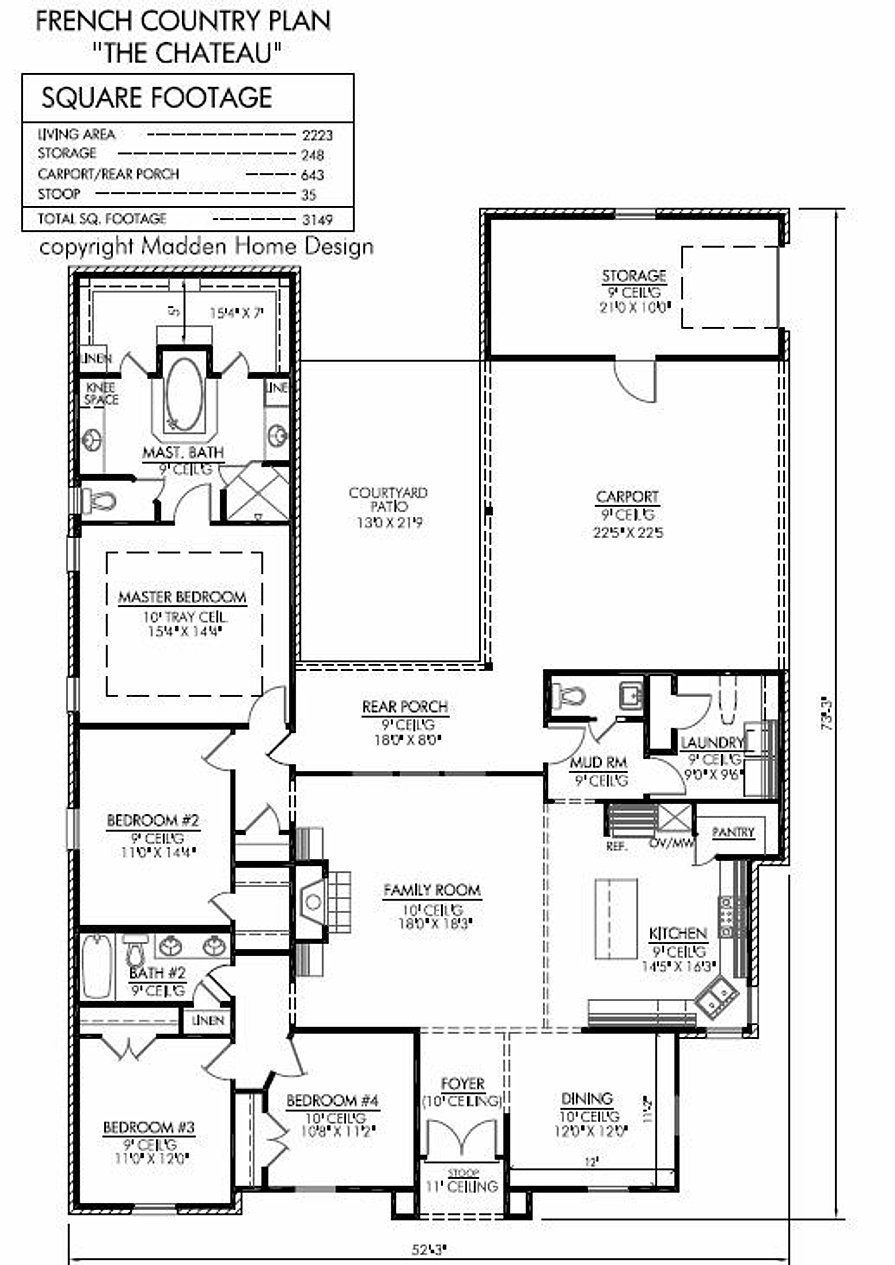 Madden home design the chateau for Madden house plans