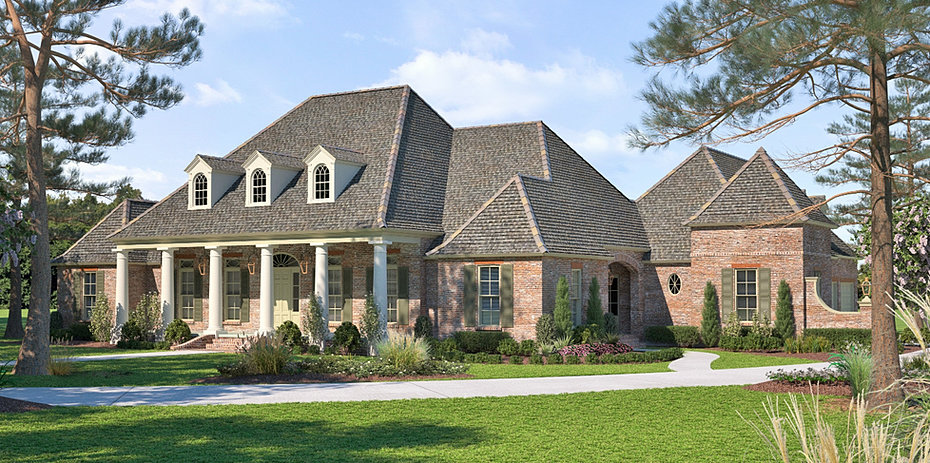 Acadian style house plans 653385 open floor plan with French acadian homes