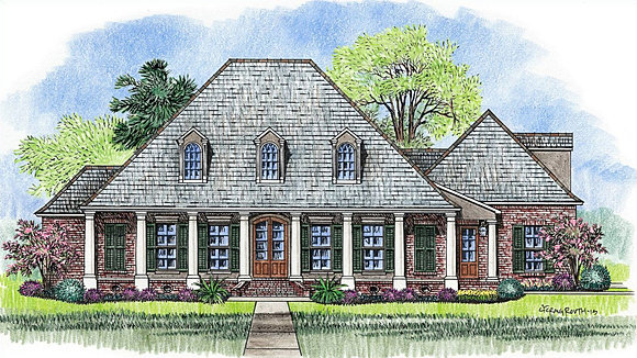 Madden home design french country house plans acadian for Madden house plans