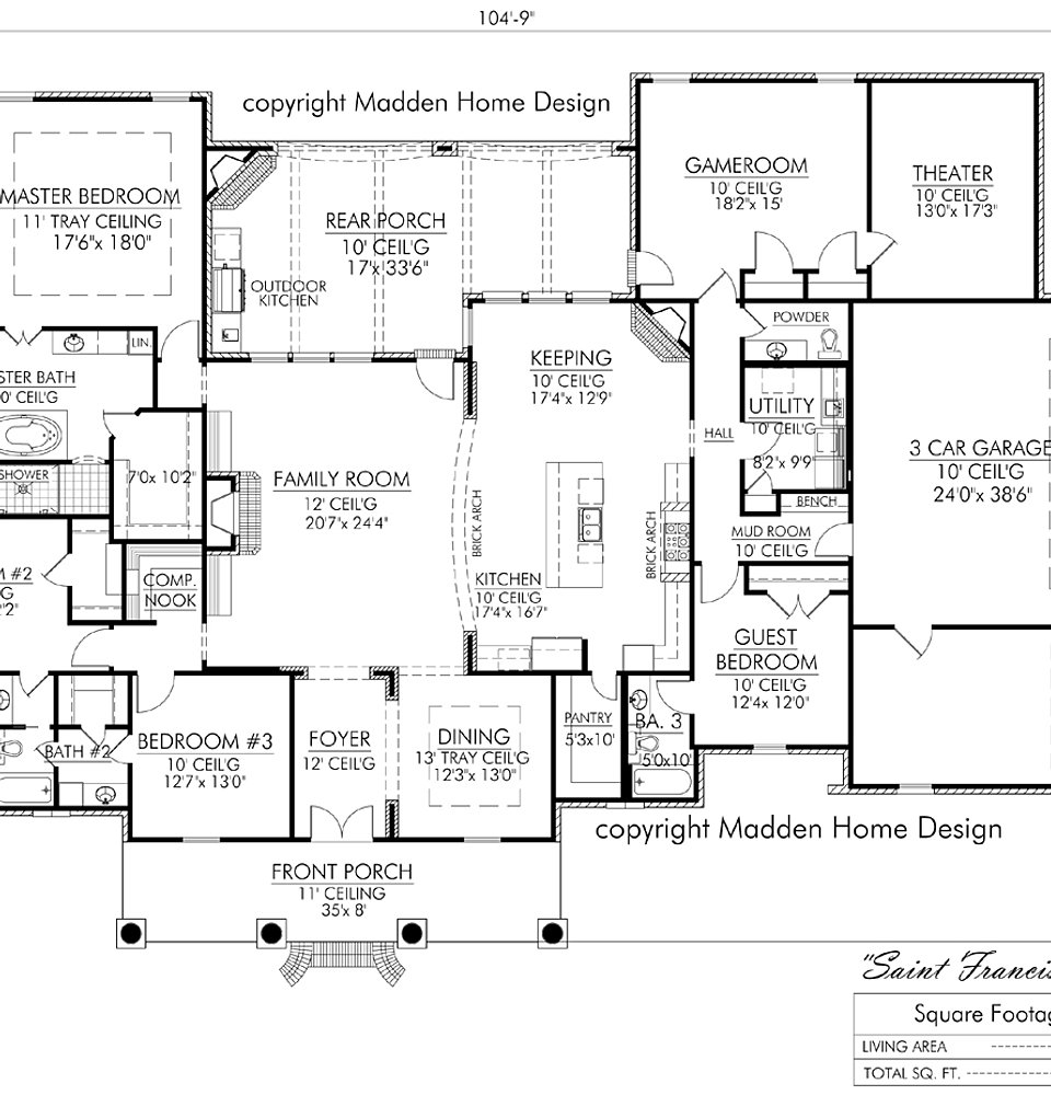 Madden Home Design - The St. Francisville