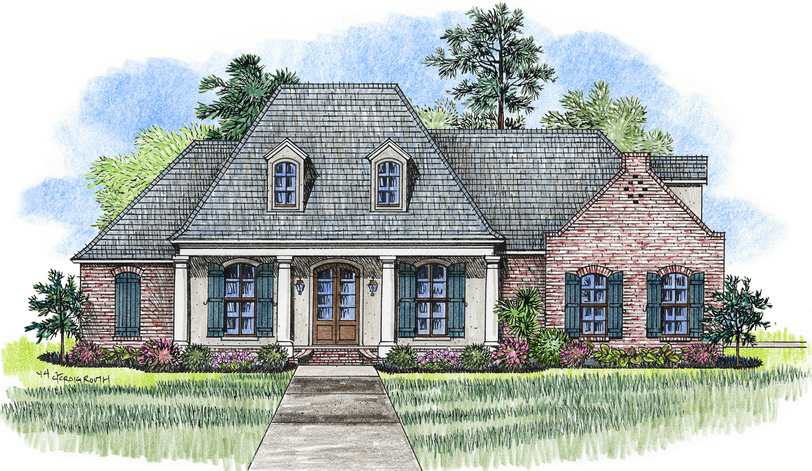 The tuscaloosa madden home design acadian house plans for Madden house plans