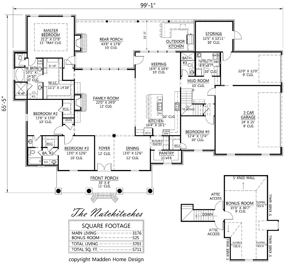 Madden home design the natchitoches for Madden house plans