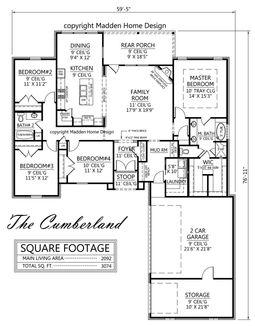 cumberland renderingjpg cumberland planjpg - Madden Home Designs