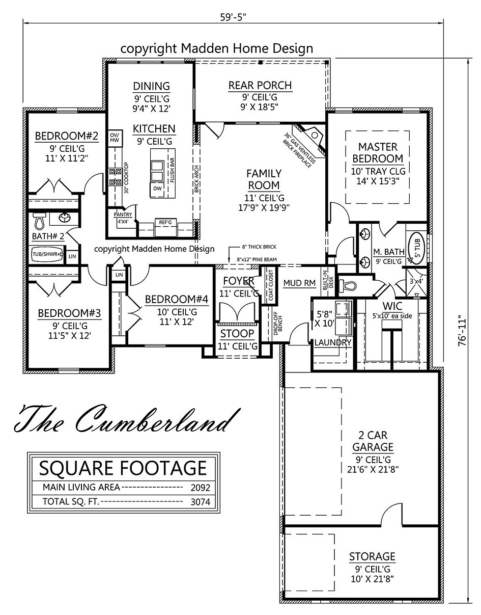 Madden home design cumberland for Madden house plans