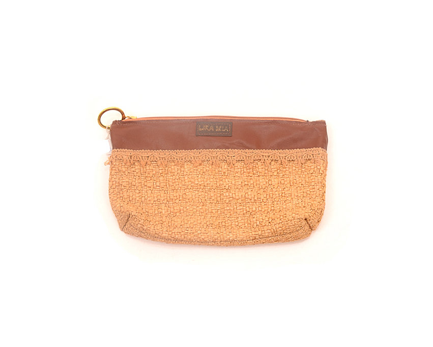 Leather & Straw, Makeup Bag