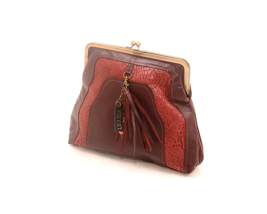 Burgundy Big Clutch