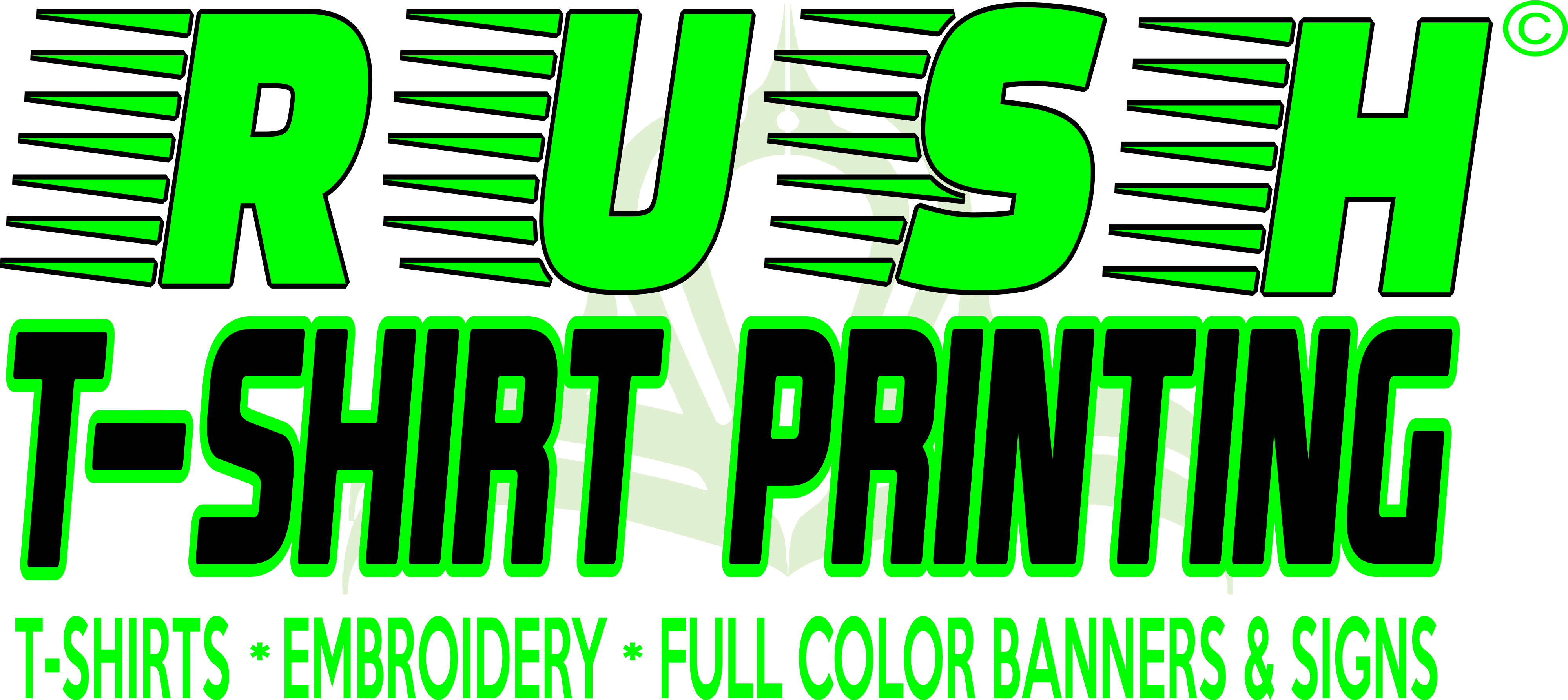 Rush Tshirt Printing Houston Texas