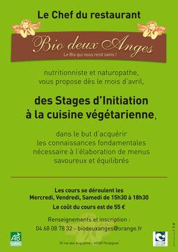 cours de cuisine vÉgÉtarienne | restaurant végétarien bio deux anges - Formation Cuisine Vegetarienne