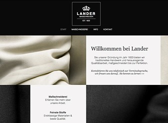 Schneider Template - Bewerben Sie Ihr Unternehmen mit dieser eleganten Vorlage. Ändern Sie Texte, Fotos und Farben, um eine einzigartige Homepage zu erstellen. Beginnen Sie jetzt und schneidern Sie sich eine Website, die genau Ihren Vorstellungen entspricht.