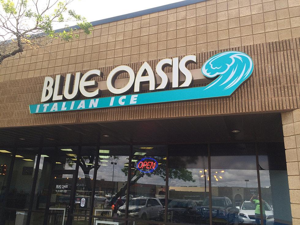 Blue Oasis italian ice and ice cream