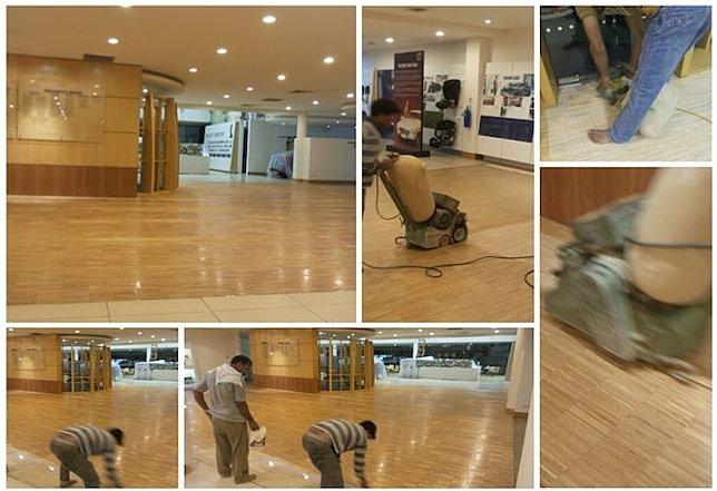 Parquet n marble polishing singapore mr wood varnish for Wood floor repair specialist