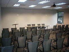 The Conference Center at Ashlyn Park large theater room with panel