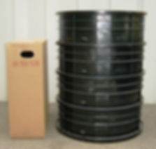 septic tank riser ships and stores in small area