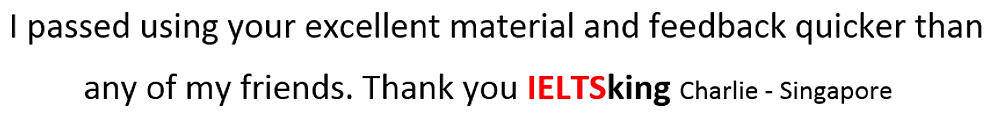 Pass with ielts king materials