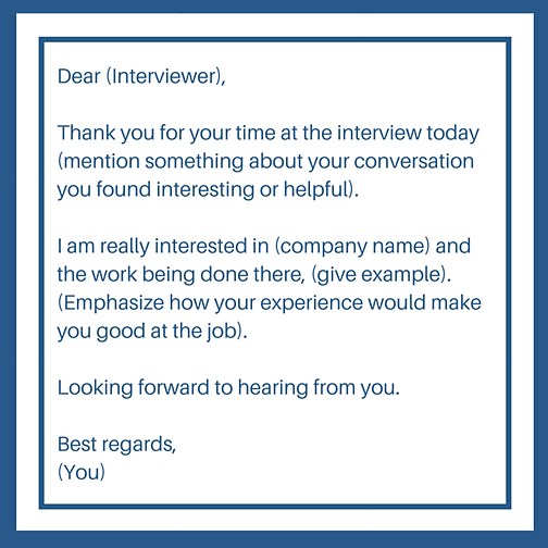 follow up for job interview