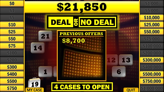 Free powerpoint gameshow templates for Deal or no deal powerpoint game template