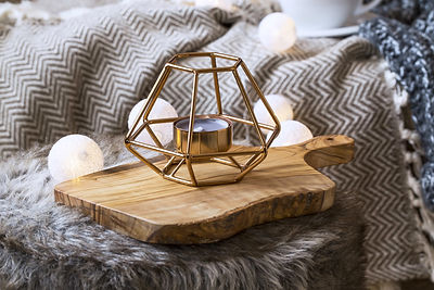 Home deco indoor with candle holder and