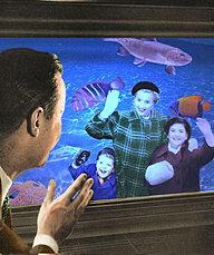 Dad Visits the Aquarium