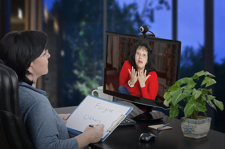 Woman psychiatrist runs tele psychologis