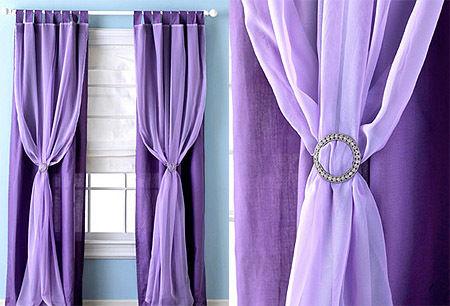 cortina morada modernajpg - Cortinas Moradas