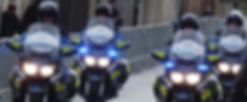 French police on motorbikes